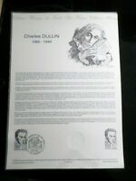 FRANCE 1985 DOCUMENT OFFICIEL 1° jour FDC, CHARLES DULLIN, CELEBRITE', VF