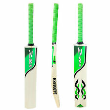 NEW Zeepk Tennis Tape Ball Cricket Bat Full Size Hand Made Kashmir Willow Green