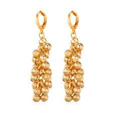 Gold Plated Grape Cluster Jewelry Big Fashion Drop Dangle Earrings 18K