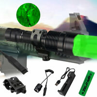 Tactical Green Red White Light LED Flashlight Torch Lamp Rifle Hunting & Mount