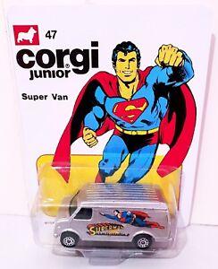 Mettoy CORGI Juniors 47 SUPERMAN SUPER VAN Model Car on Custom Repro Card