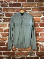 $495 RRL Ralph Lauren Plaid Check Country Hunting Western Pearl Snap Work Shirt