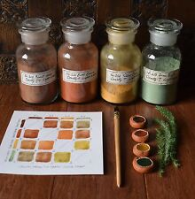 Set of 4 ECO EARTH Primitive Paints -Handmade Watercolour (nature work)