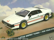 DIECAST 1/43 JAMES BOND 007 1980 LOTUS ESPRIT TURBO IN WHITE FOR YOUR EYES ONLY