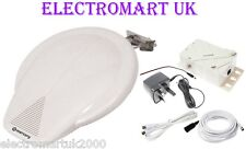 CARAVAN CAMPING CAMPER BOAT TV DIGITAL HD FREEVIEW BOOSTER AERIAL KIT 12V 240V