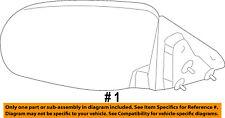 CHRYSLER OEM 2010 Sebring Door Side Rear View-Power Mirror Assy Right 4657002AA