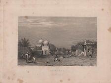 """India/Antiguo Impresiones - """"bejapore Street Scene"""" - Samuel Prout & Elliott (c.1840)"""