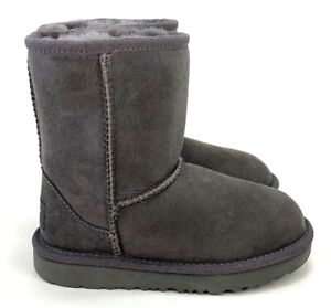 UGG Classic II Short Suede Gray Unisex Kids Boots Size 9T, 11T  M1017703T