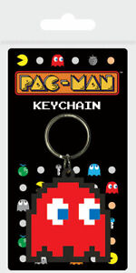 PAC-MAN (BLINKY) RUBBER KEYCHAINOFFICIAL - FAST UK DISPATCH*