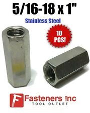 Qty 10 516 18 X W716 X L1 Stainless Steel Threaded Rod Coupling Nuts