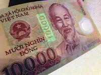 Vietnamese Dong 10000 UNC  Polymer  Vietnam Banknote  SALE BUY 5 GET 1 FREE!