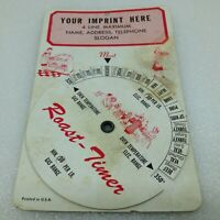 Vintage Meat Roast Spin Timer Advertising USA Gas and Electric Temperatures