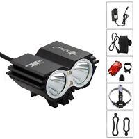 6000lm SolarStorm 2x XML T6 LED Linterna Frontal Luz Cabeza Bicicleta Headlight