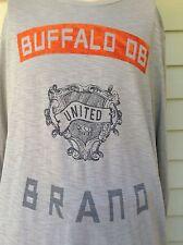 Buffalo by David Bitton Mens Tan Design Long Sleeve Cotton Shirt L Large