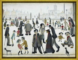 Framed L.S. Lowry The Cripples Giclee Canvas Print Paintings Poster Reproduction