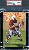 Roger Wehrli Gem Mint 10 HOF 07 PSA DNA Slab Signed Goal Line Art Card Autograph