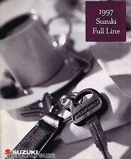 1997 SUZUKI Brochure/Pamphlet w/Color Chart: SIDEKICK,SWIFT,ESTEEM,X-90,4x4,X90,