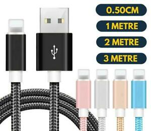 1M 2M 3M Strong Braided USB Data Sync Charger Cable Lead For iPhone11 X XR XS 87