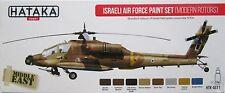 Hataka HTK-AS71 helicóptero israelí 8 conjunto de pintura de color