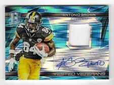 Antonio Brown 2015 SPECTRA PRIZM AUTOGRAPH JERSEY CARD #/25 SIGNED Steelers AUTO