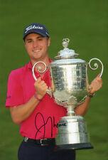 Justin Thomas, PGA Championship 2017, gran ganador, firmado 12x8 pulgadas Foto. cert. de autenticidad.