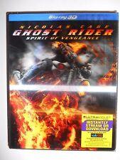 Ghost Rider: Spirit of Vengeance (Blu-ray Disc, 2012, 3D) W/Lenticular Slipcover