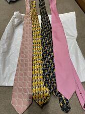 4x Ermenegildo Zegna Silk Ties