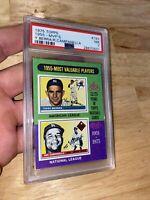 Yogi Berra Roy Campanella PSA 7 NM 1975 Topps Mini #193 New York Yankee Baseball