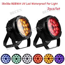 Waterproof slient 18X18W 6IN1 LED par light RGBWA UV IP65 LED par light 2pcs