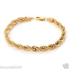 Bracelet Plaqué OR jaune Torsadé longueur 21,5 cm diamètre 5 mm(femmes)