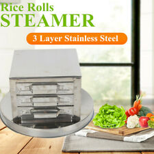 3-layer steamer drawer cooker rice noodle roll steaming machine anti-cutting Usa