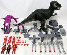 Vintage Tyco Dino Riders Tyrannosaurus Rex T-Rex 3 Figures Many Parts Untested