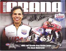 2009 Hector Arana signed Lucas Oil Buell Pro Stock Motorcycle NHRA postcard