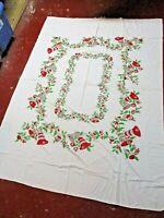 Vintage Rectangle Jingle Bells Christmas Tablecloth