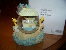 "Pastel Colors Berkeley Design Noah's Ark Water Globe Plays ""Talk to the Animals"""