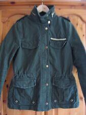 Women's H&M Verde Cachi Stile Militare Giacca Cappotto SMALL-EUR 36 US 6 UK 10