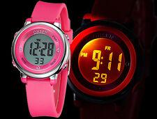 OHSEN LED Digital Date Boys Girls Kids Children Alarm Sports Wrist Watch Gift