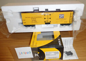 K-LINE K762-21711 WESTERN PACIFIC WP PFE O SCALE WOOD-SIDED REEFER TOY TRAIN CAR