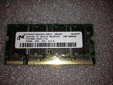 Memoria sodimm DDR MICRON 256 mb PC2700 333 MHZ MT8VDDT3264HDG-335C3 200 Pin
