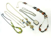 Beaded Fashion Necklace Lot, 5 Pieces