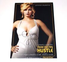 ACTRESS JENNIFER LAWRENCE SIGNED AMERICAN HUSTLE 12x18 MOVIE POSTER PHOTO W/COA
