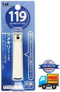 New JAPAN KAI stainless steel Nail Clipper 119 First Aid Tool Cutter (S) Trimmer