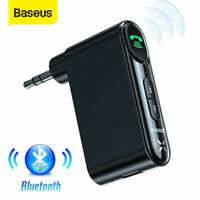 Baseus Wireless Bluetooth 3.5mm Phone To AUX Car Stereo Receiver Adapter W/Mic