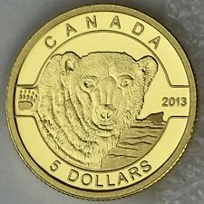 2013 $5 Polar Bear 1/10 Troy oz. Pure Gold Proof Coin, O Canada Series #2