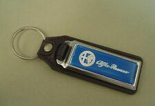 Vintage old Blue ALFA ROMEO Key Chain Ring