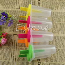 New Pop Popsicle Mold Tray Pan Kitchen Frozen 8 Cell Lolly Mould Ice Cream Maker