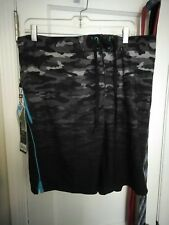 Men's Swim Trunks NEW w/Tags Grey Buoy ZeroXposur ZX INNER COMFORT LINER NWT