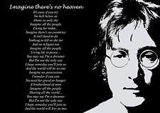 La vita di ispirazione / motivazionali POSTER John Lennon Imagine CANZONI