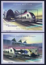 2002 Malaysia Express Rail Link Miniature Sheet Stamps (Pair) Mint Not Hinged