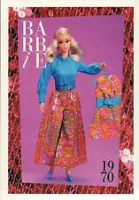 """Barbie Collectible Fashion Trading Card """" Mood Matchers """" Turquoise Blouse 1970"""